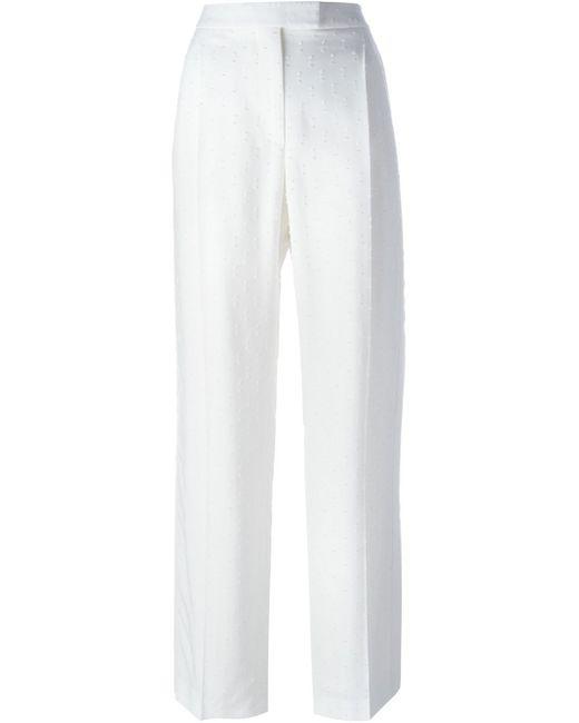 Alexander McQueen | White Fil Coupé Palazzo Pant | Lyst