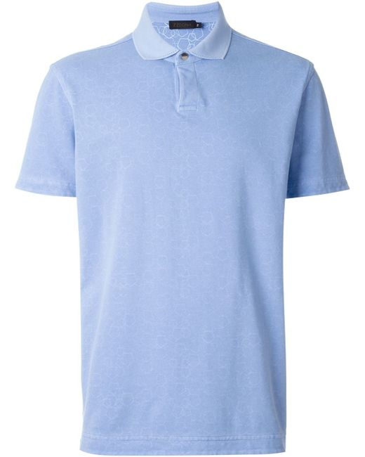 Z zegna reversible polo shirt in blue for men lyst for Zegna polo shirts sale