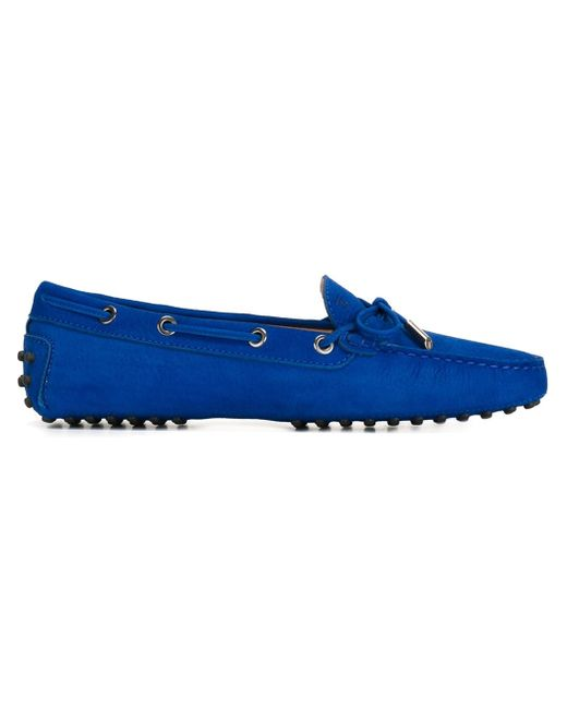 Tod's | Blue 'gommini' Tie Front Driving Moccasin | Lyst