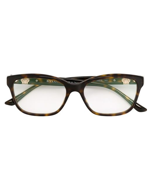 Bvlgari Rectangular Frame Glasses in Black (BROWN) Lyst