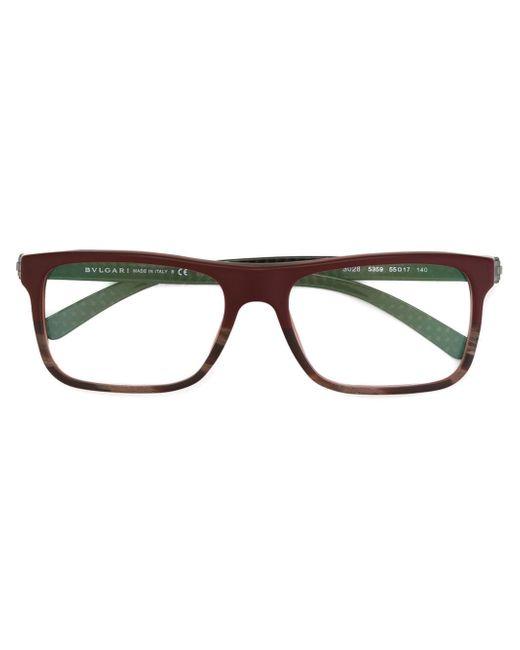 Bvlgari Rectangular Frame Glasses in Black for Men Lyst