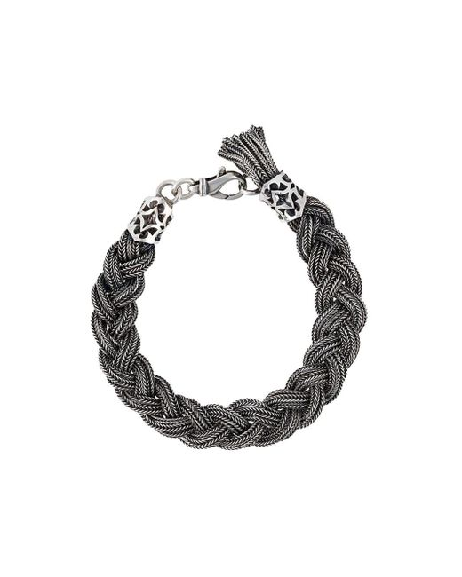 Emanuele Bicocchi   Metallic Braided Bracelet for Men   Lyst