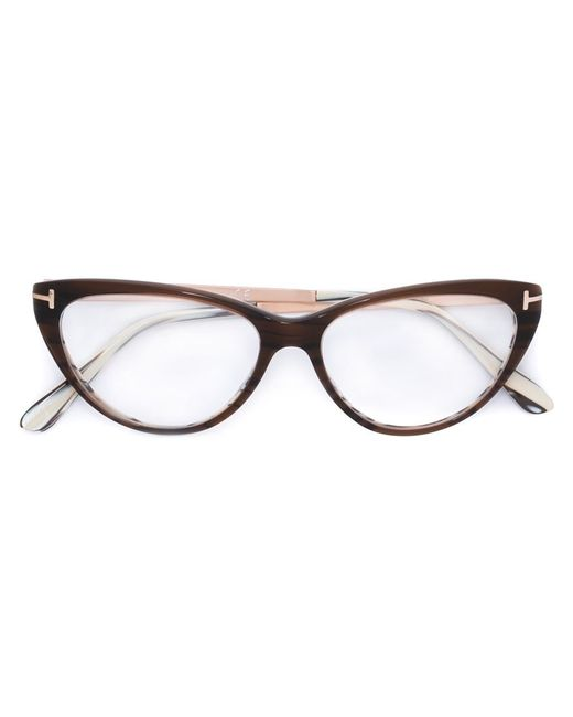 tom ford cat eye glasses in brown lyst. Cars Review. Best American Auto & Cars Review