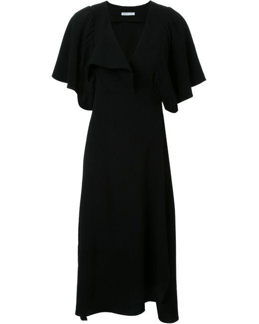 Christopher esber Lapel Swing Dress in Black