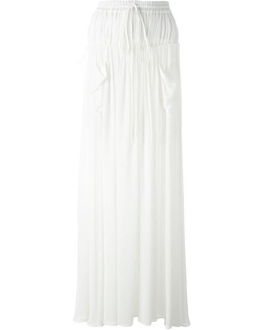 chlo 233 chlo 233 pleated maxi skirt in white lyst