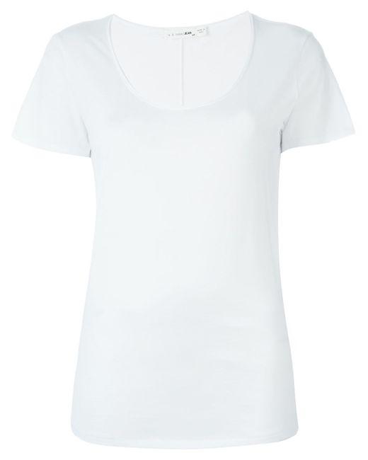 Rag Bone Scoop Neck T Shirt In White Lyst