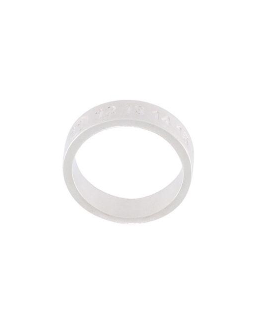 Maison Margiela   Metallic Embossed Logo Ring for Men   Lyst