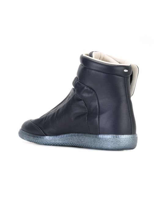 maison margiela 39 future 39 hi top sneakers in blue lyst. Black Bedroom Furniture Sets. Home Design Ideas