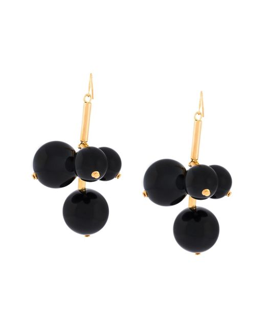 Marni | Black 'leverback' Earrings | Lyst