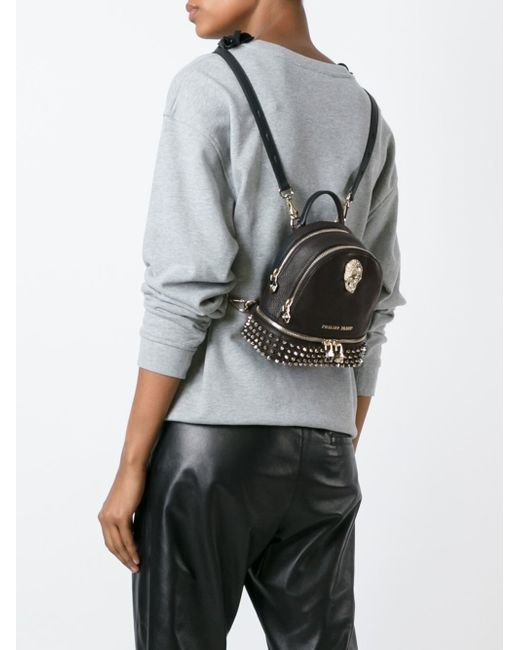philipp plein mini bad kingdom backpack in black lyst. Black Bedroom Furniture Sets. Home Design Ideas