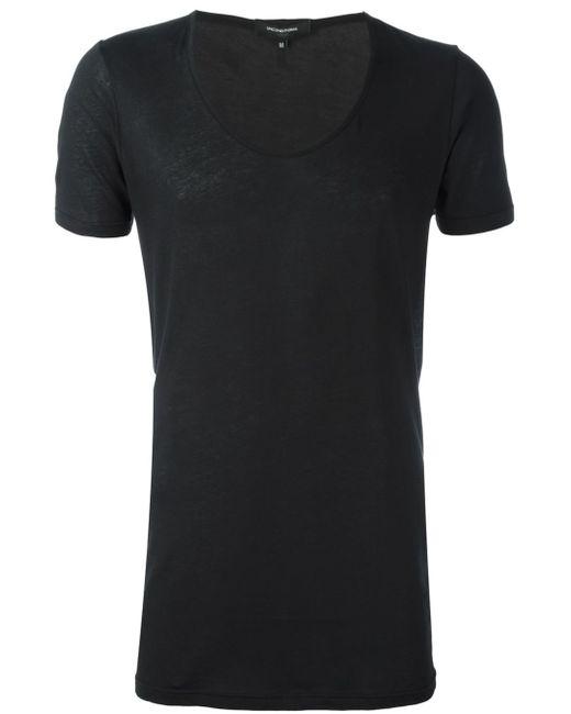 Unconditional Deep U Neck T Shirt In Black For Men Lyst