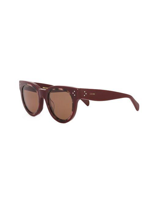 2e5bc05569e03 Céline Round Frame Sunglasses in Red
