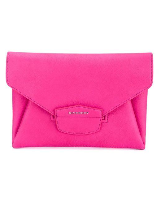 Givenchy | Pink - Large 'antigona' Clutch - Women - Goat Skin - One Size | Lyst
