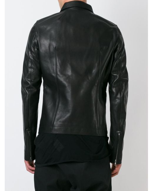 Rick owens - Fitted Leather Jacket - Men - Cotton/calf Leather ...