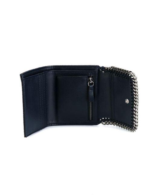 stella mccartney 39 falabella 39 flap wallet in blue save 16 lyst. Black Bedroom Furniture Sets. Home Design Ideas