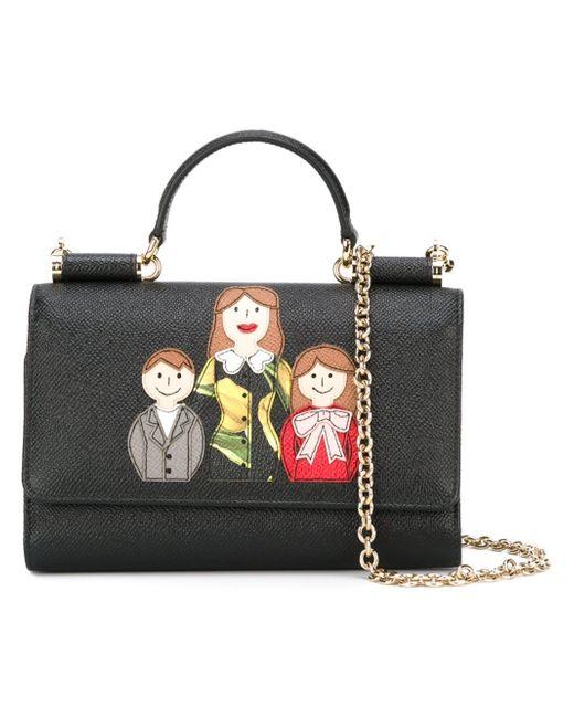 Dolce & Gabbana | Black Mini 'von' Wallet Crossbody Bag | Lyst