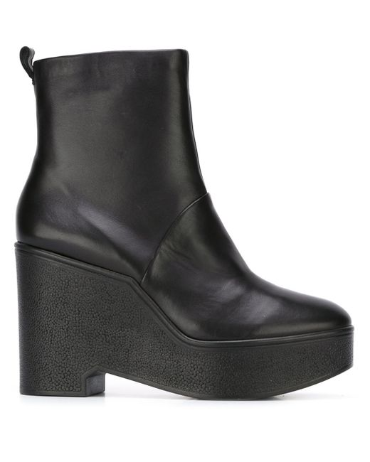 robert clergerie bisout wedge boots in multicolor black