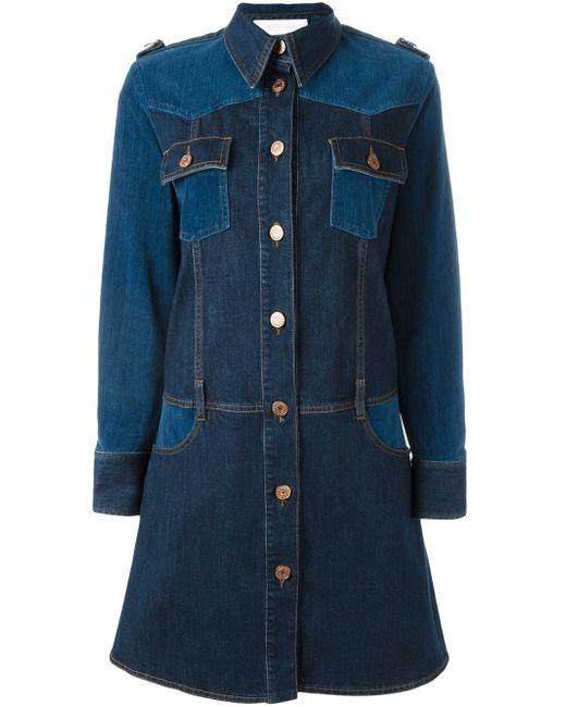 See By Chloé | Blue Panelled Denim Dress | Lyst