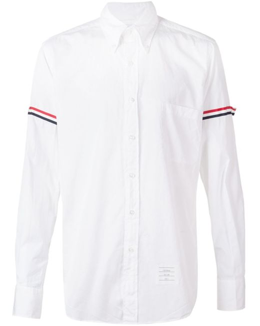 Thom browne striped sleeve shirt in multicolor for men for Thom browne shirt sale