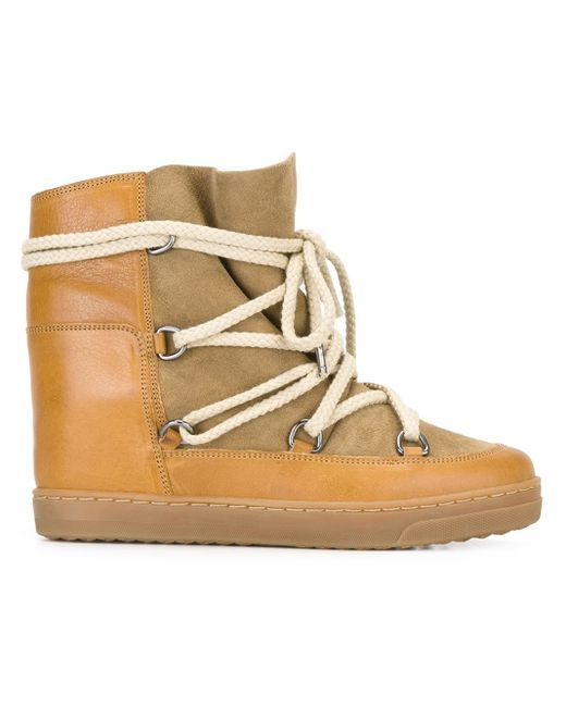 Isabel Marant | Natural Camel Shearling Nowles Boots | Lyst