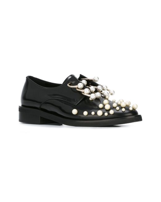 coliac black pearl derby martina shoes in black save 40 lyst