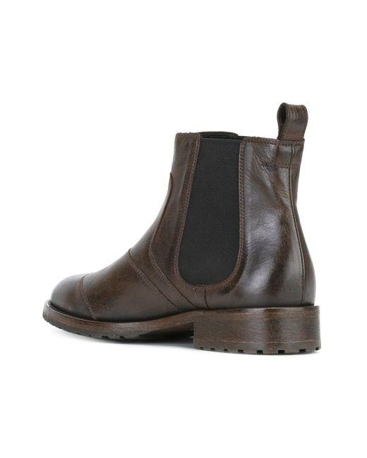 belstaff panelled chelsea boots in brown for men lyst. Black Bedroom Furniture Sets. Home Design Ideas