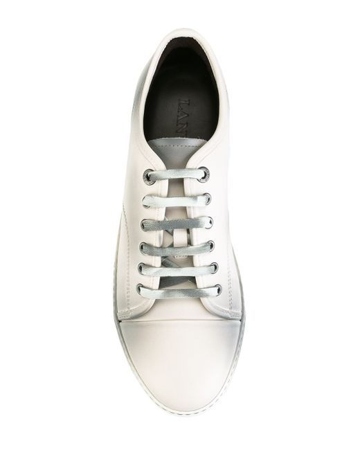 lanvin low top spray paint trainers in white for men lyst. Black Bedroom Furniture Sets. Home Design Ideas