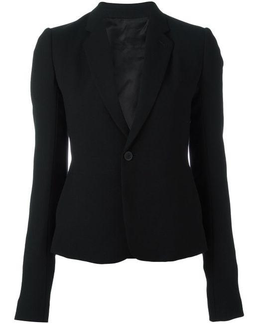 Rick Owens | Black Tie-front Crepe Jacket | Lyst