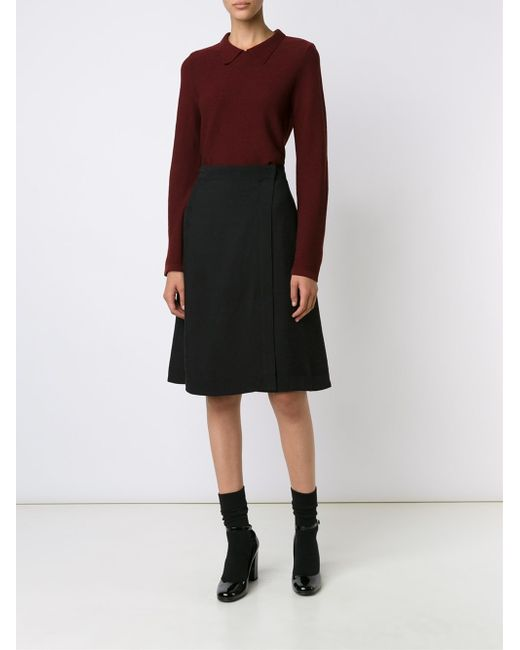 a p c classic a line skirt in black lyst