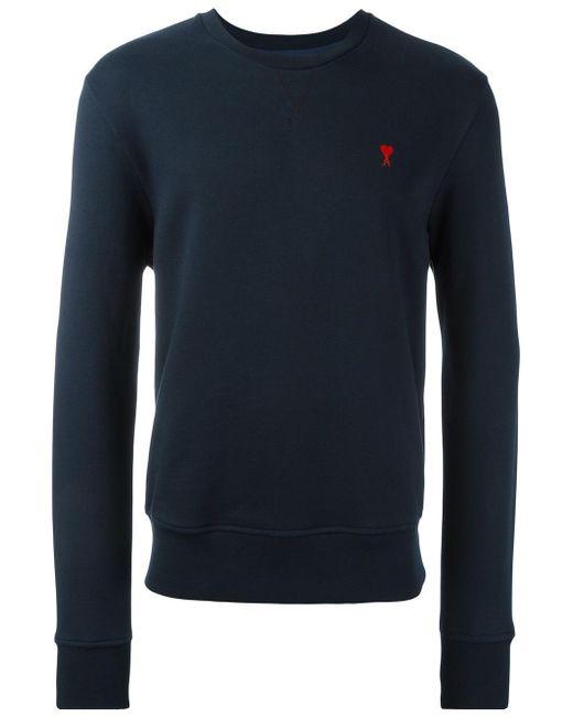 AMI | Blue Ami De Coeur Sweatshirt for Men | Lyst