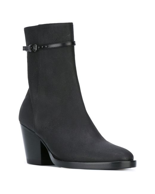 a f vandevorst mid heel ankle boots in black lyst