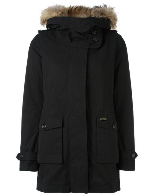 woolrich 39 scarlett 39 eskimo jacket in black lyst. Black Bedroom Furniture Sets. Home Design Ideas