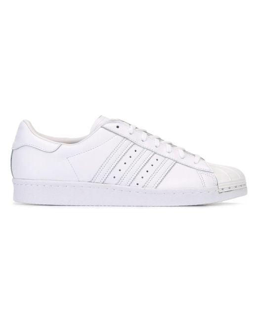 Adidas Originals   White 'superstar 80's Metal Toe' Sneakers   Lyst