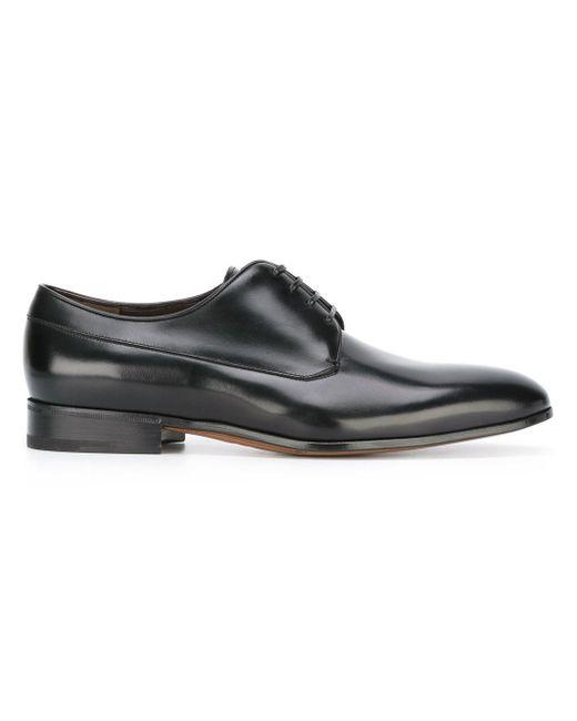 Ferragamo   Black Classic Lace-up Shoes for Men   Lyst