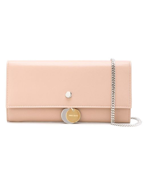 Jimmy Choo | Pink Mandie Wallet Crossbody Bag | Lyst