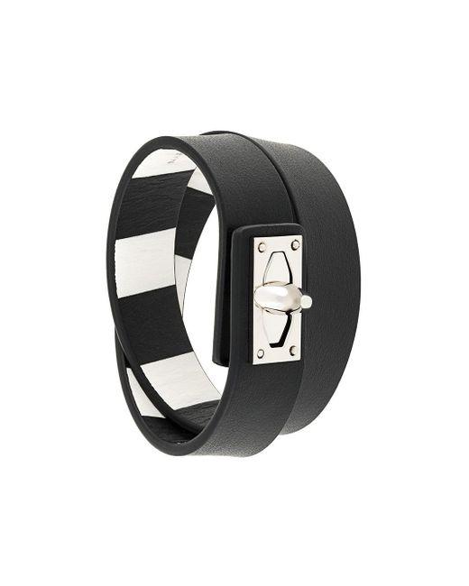 Givenchy   Black 'shark' Bracelet   Lyst
