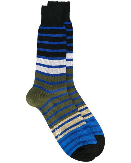 Paul by Paul Smith | Blue Striped Socks for Men | Lyst