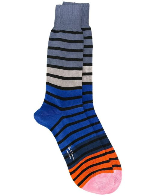 Paul by Paul Smith | Blue Striped Socks for Men | Lyst