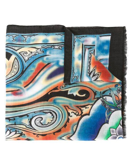 Etro | Blue Paisley Print Scarf for Men | Lyst