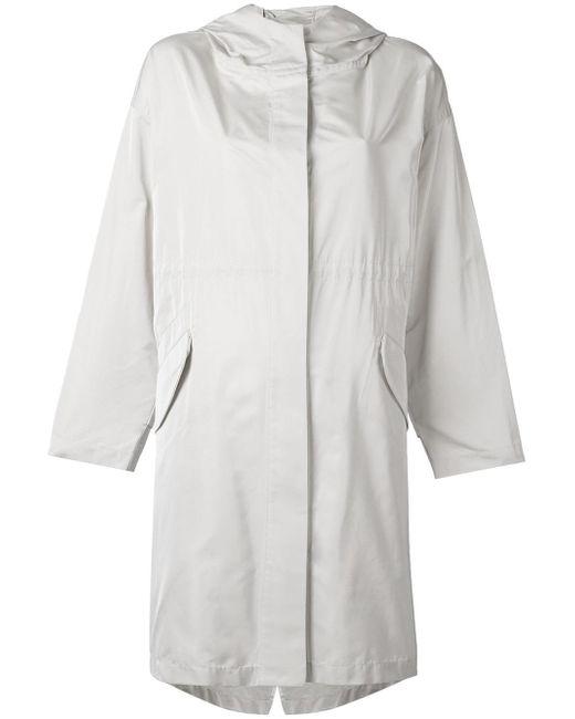 Jil Sander | Multicolor Hooded Raincoat | Lyst