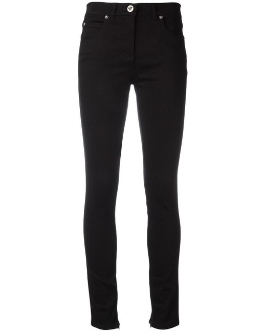 Versace | Black Tapered Skinny Jeans | Lyst
