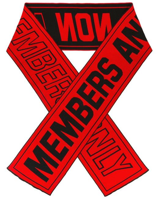 Stella McCartney | Red Members Only Scarf for Men | Lyst