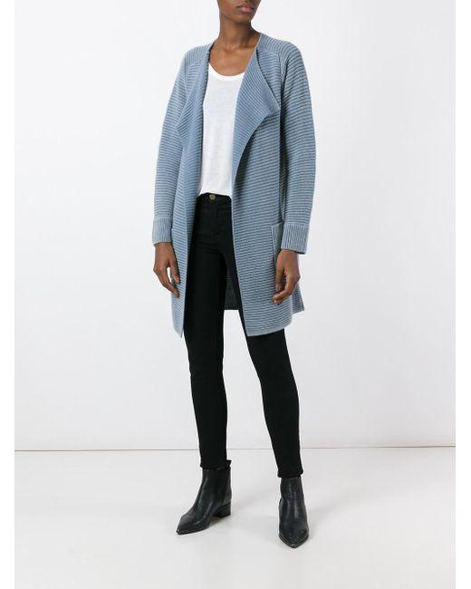 iris von arnim open front cardigan in blue lyst. Black Bedroom Furniture Sets. Home Design Ideas