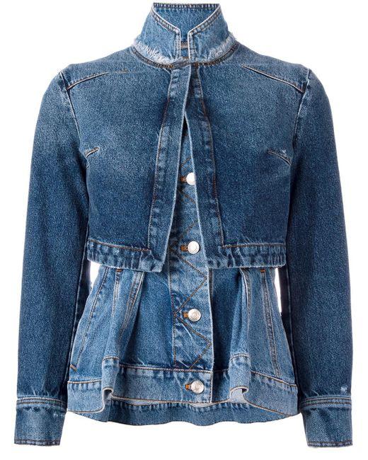 Alexander McQueen | Blue Layered Denim Jacket | Lyst