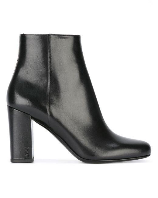 Saint Laurent | Black Babies 90 Ankle Boots | Lyst