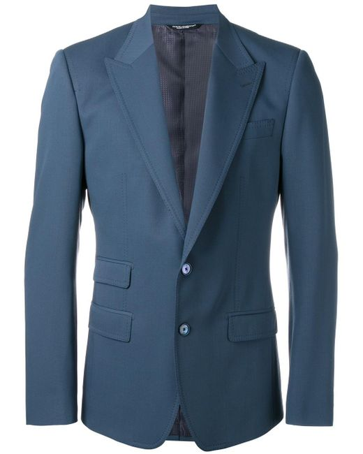 Dolce & Gabbana | Blue Fitted Blazer for Men | Lyst