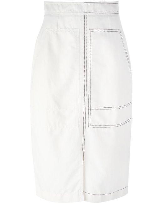 Stella McCartney | White Stitched Patch Pocket Skirt | Lyst