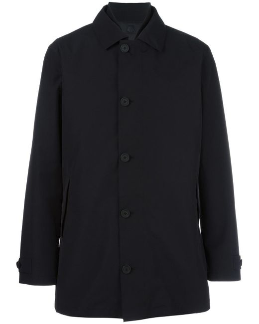 Z Zegna | Black Classic Buttoned Coat for Men | Lyst