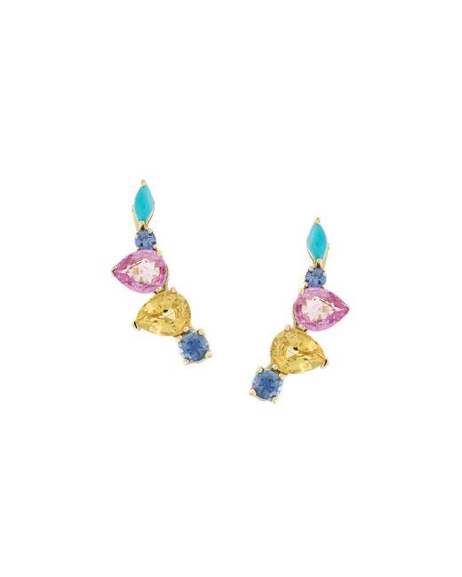 Sarah Noor | Multicolor Curved Clip Earrings | Lyst