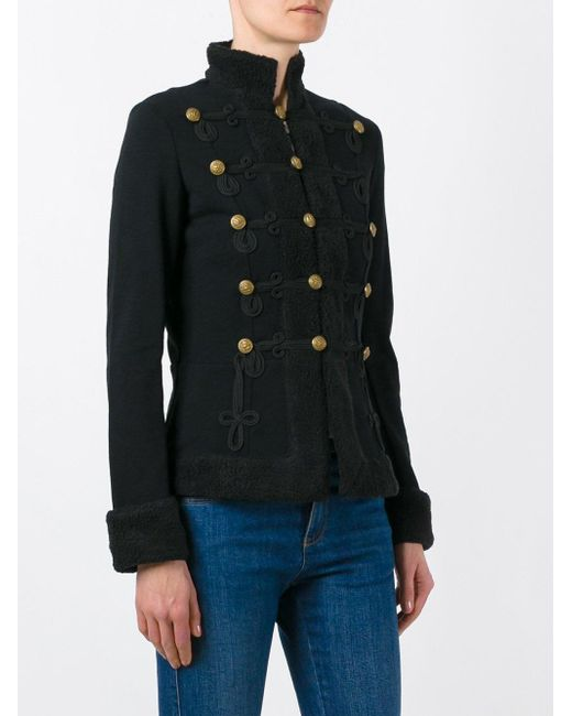 Denim Amp Supply Ralph Lauren Military Jacket In Black Lyst